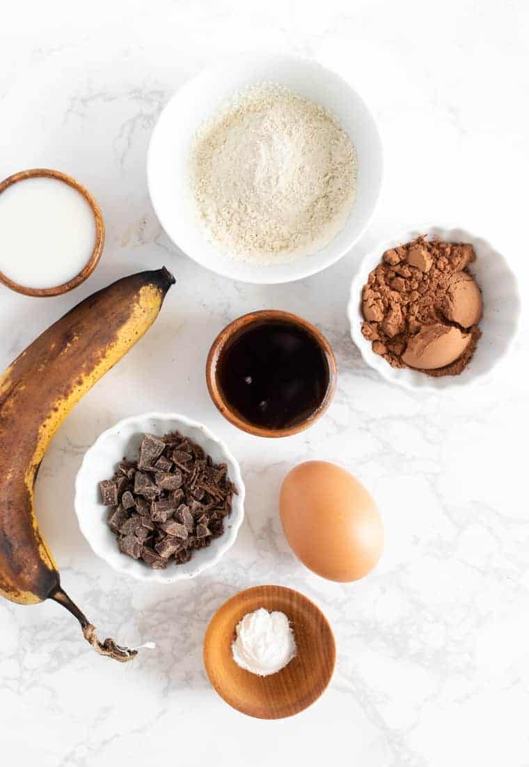 Ingredients for Chocolate Mug Cake