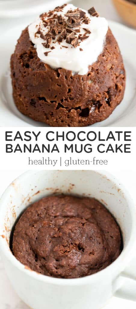 Easy Chocolate Banana Mug Cake