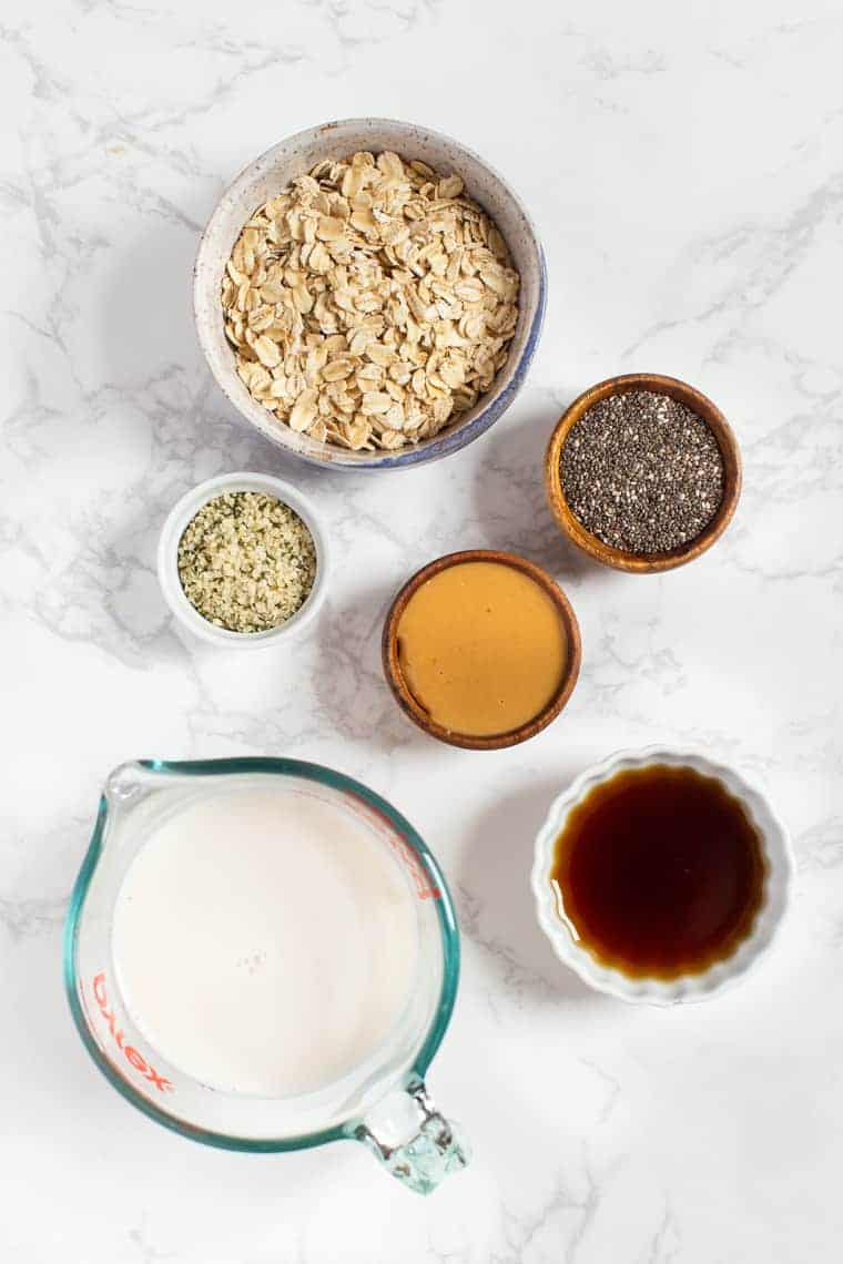 Peanut Butter Oatmeal Ingredients