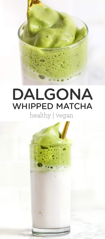 Dalgona Whipped Matcha