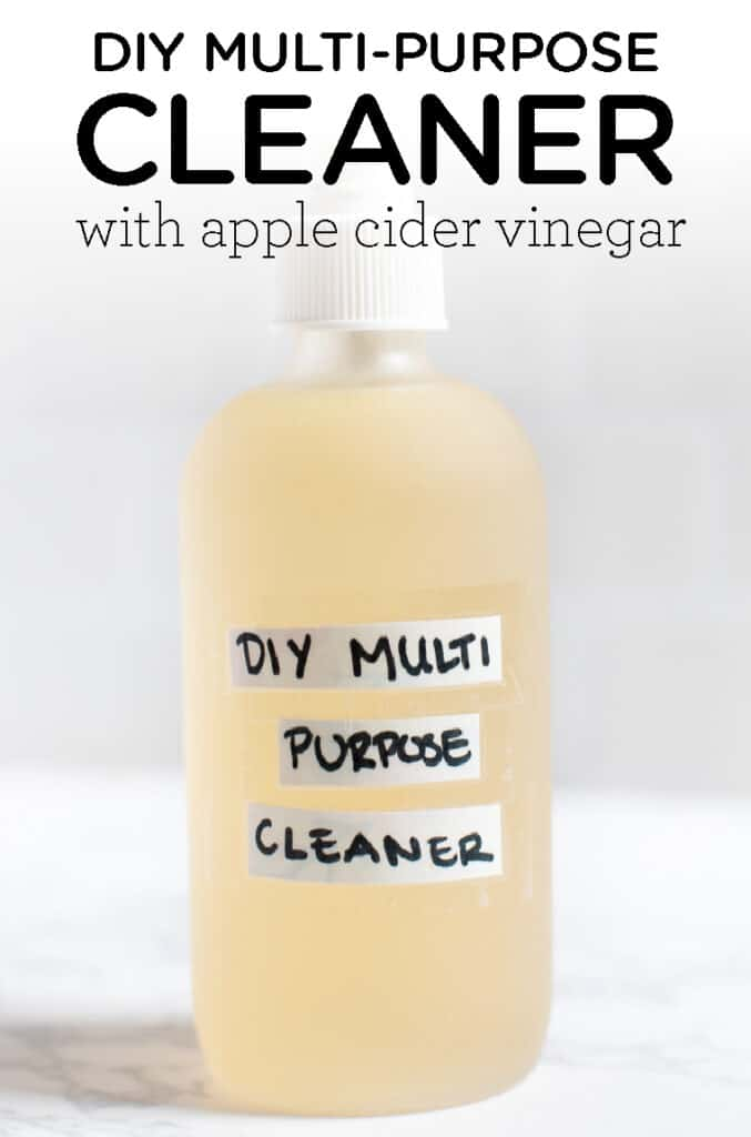DIY Multi Purpose Cleaner with Apple Cider Vinegar