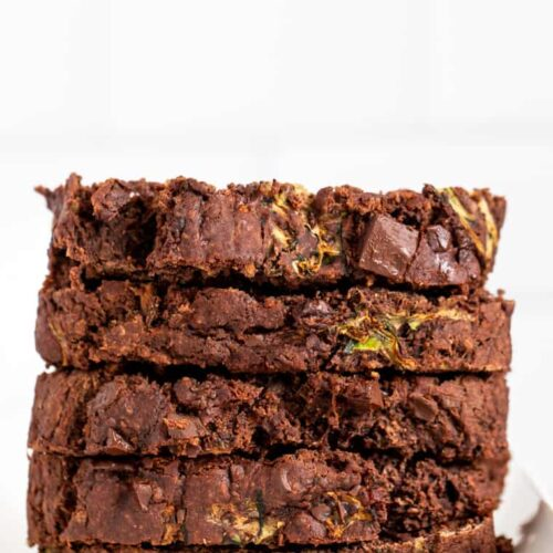 Slices of Healthy Zucchini Bread