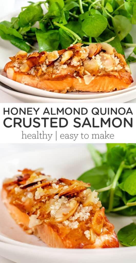 Honey Almond Quinoa Crusted Salmon