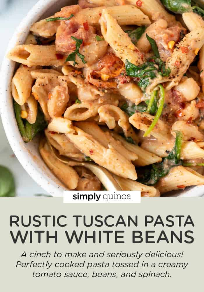 Rustic Tuscan Pasta with White Beans