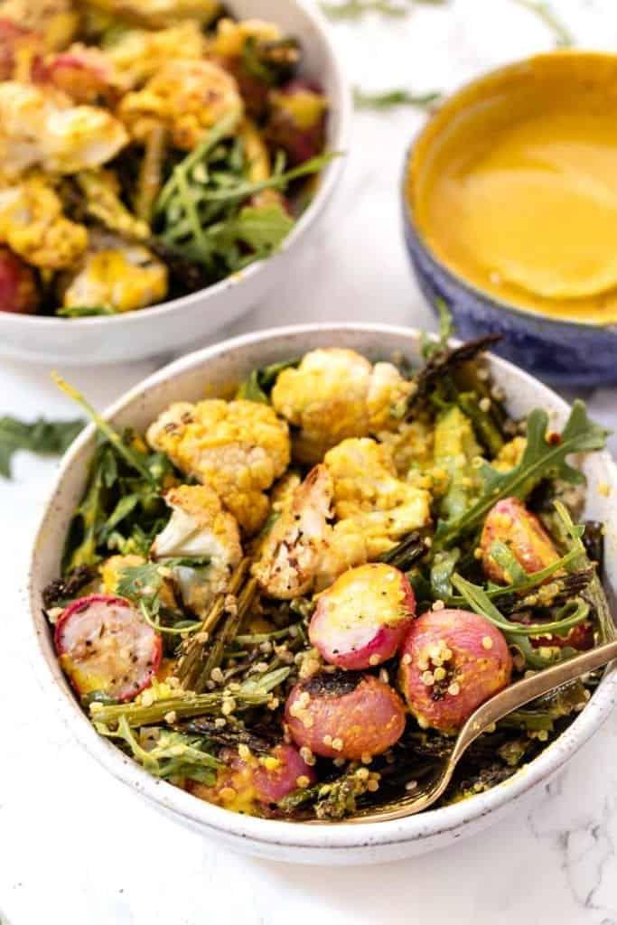Roasted Veggie Quinoa Bowls