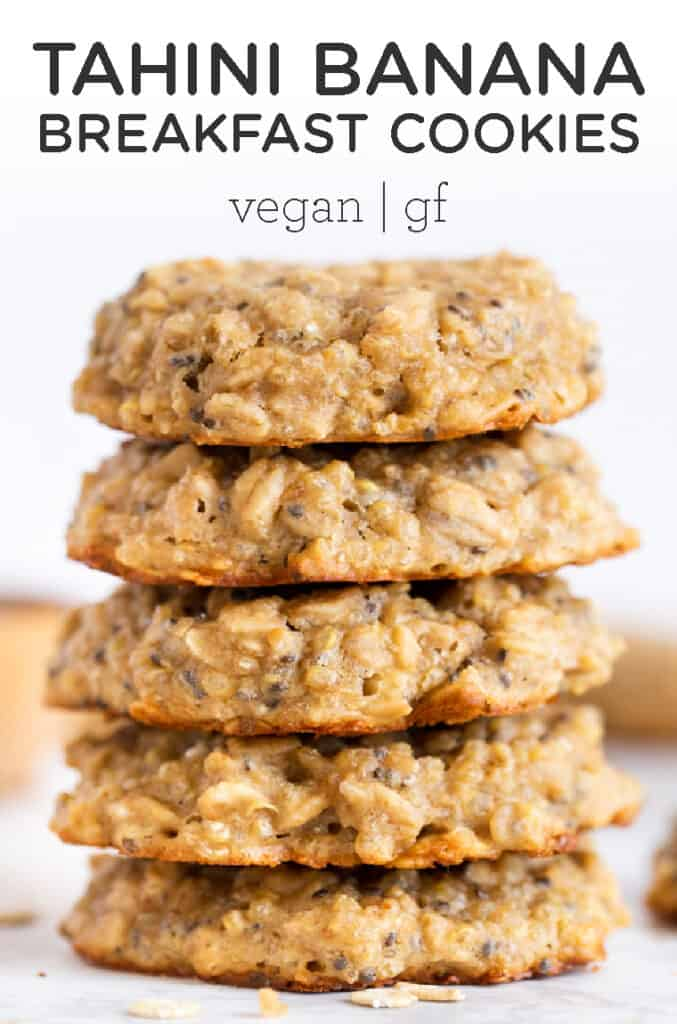 Tahini Banana Breakfast Cookies