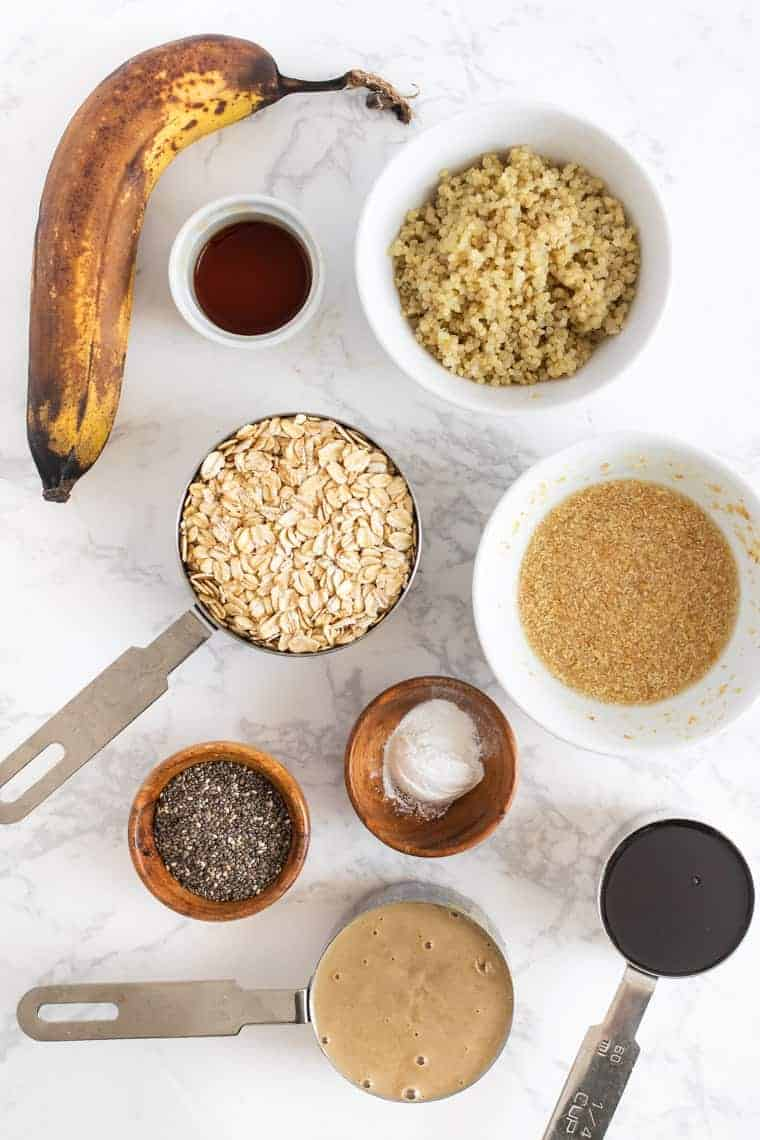 Ingredients for Tahini Breakfast Cookies