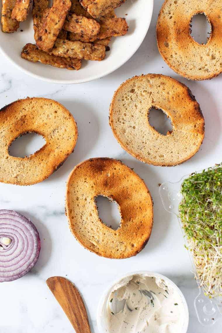 Gluten-Free Toasted Bagel Sandwich