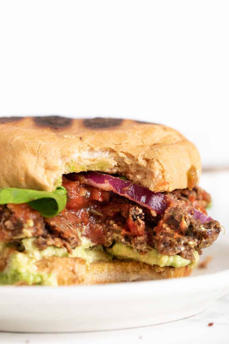 Bite of Black Bean Quinoa Burger Recipe