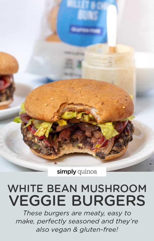 White Bean Mushroom Veggie Burger