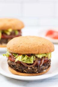 White Bean Mushroom Veggie Burger Recipe