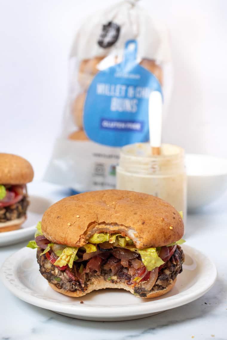 Bite of Mushroom Veggie Burgers
