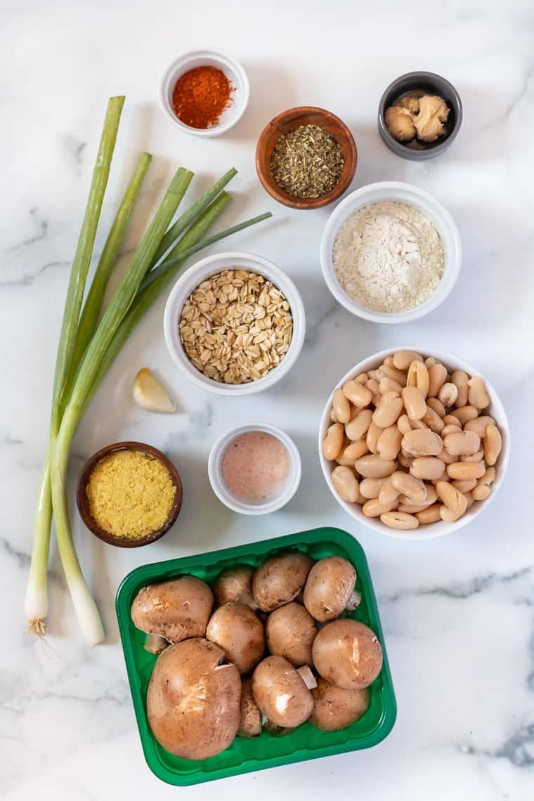 Ingredients for Mushroom Veggie Burgers