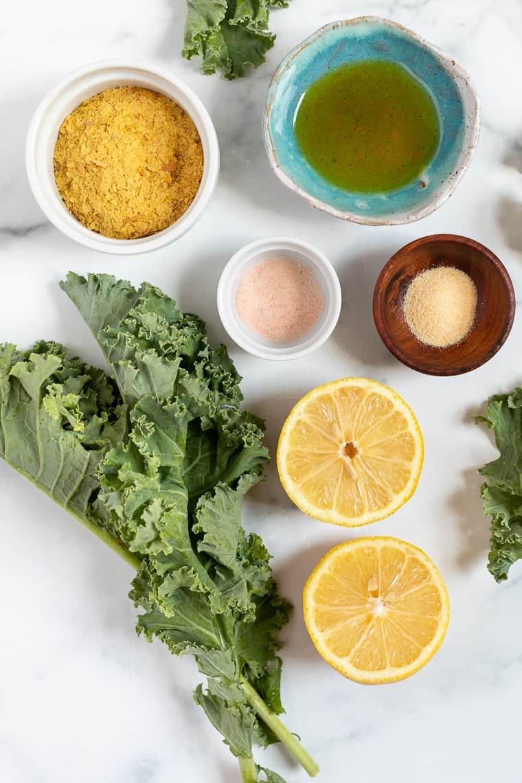 Ingredients for Massaged Kale Salad