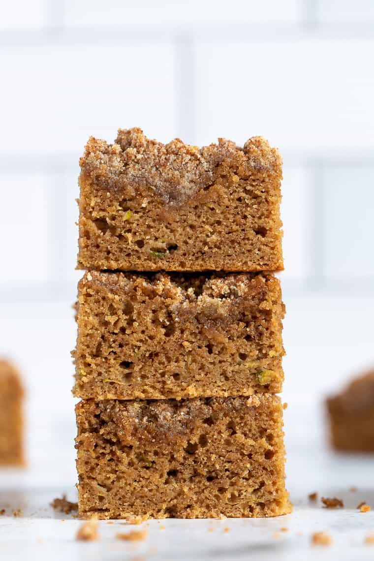 Stack of Zucchini Coffee Cake