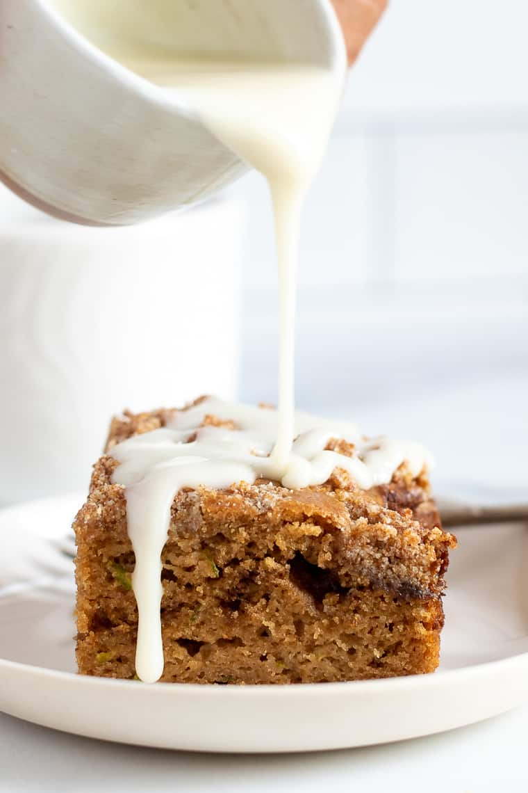Healthy Coffee Cake Recipe with icing