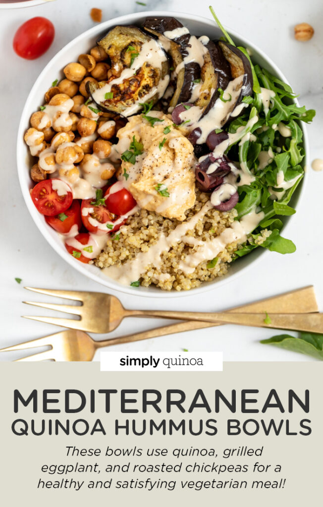 Mediterranean Quinoa Hummus Bowls