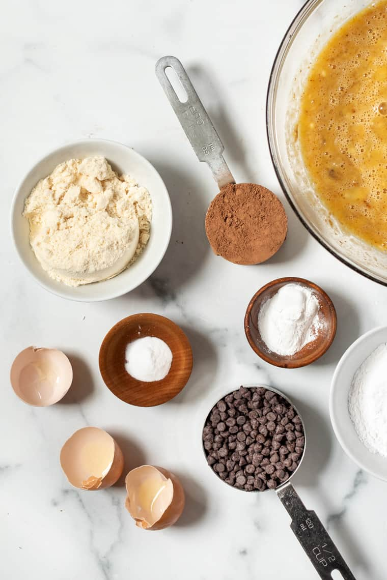 Ingredients for Chocolate Coconut Flour Muffins