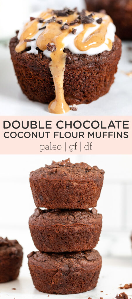 Double Chocolate Coconut Flour Muffins