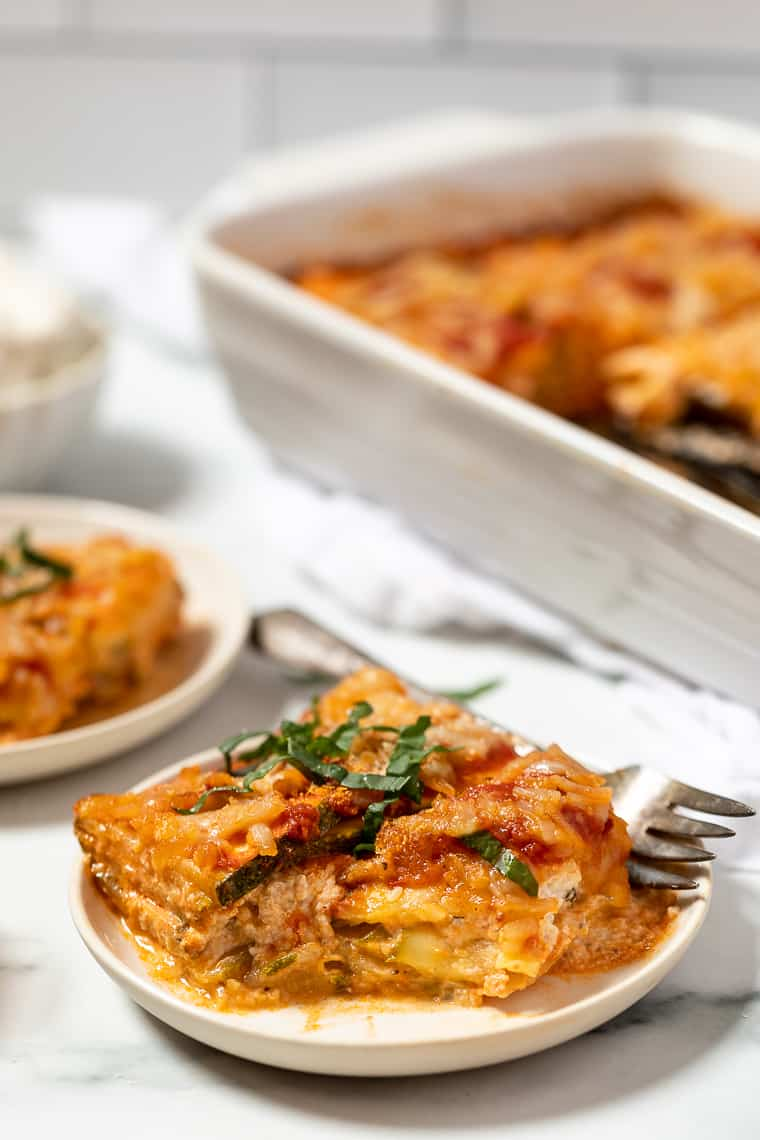 Zucchini Lasagna Recipe with Vegan Cheese