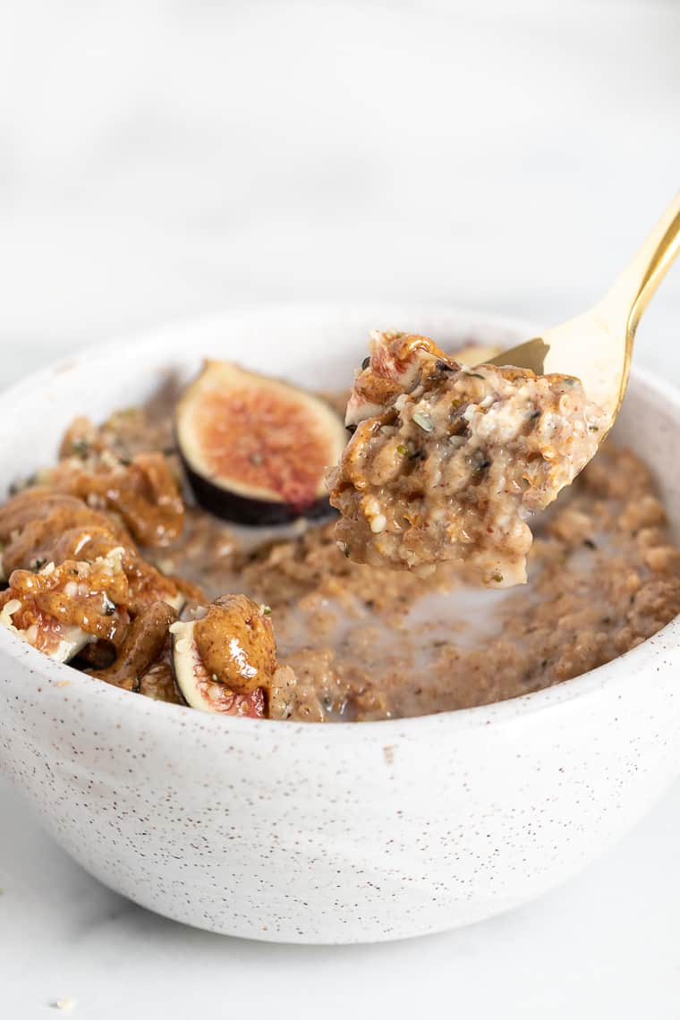 Healthy Oatmeal Recipe with Figs