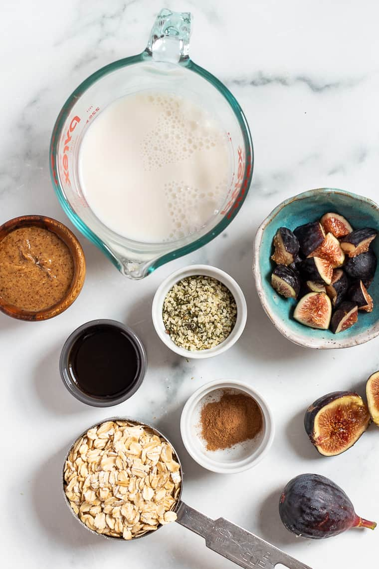 Ingredients for Almond Butter Oatmeal