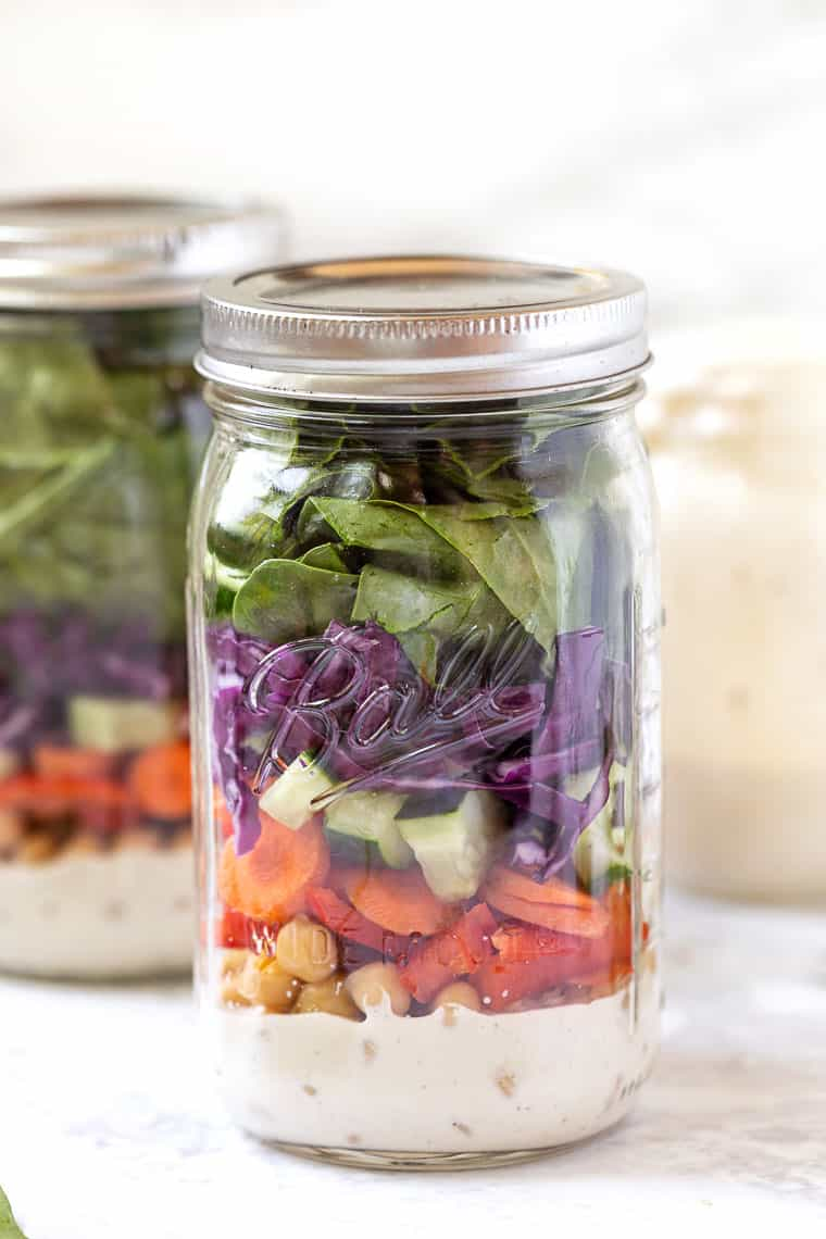 Vegan Mason Jar Salad