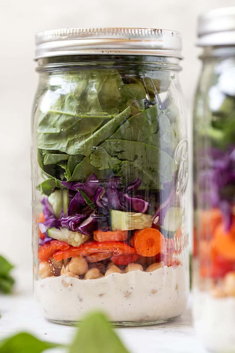 Chickpea Mason Jar Salad