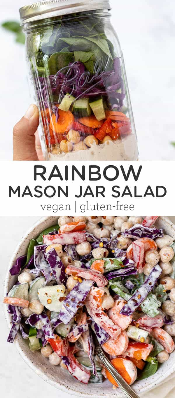 Rainbow Mason Jar Salad