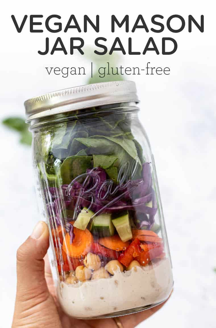 Easy Vegan Mason Jar Salad