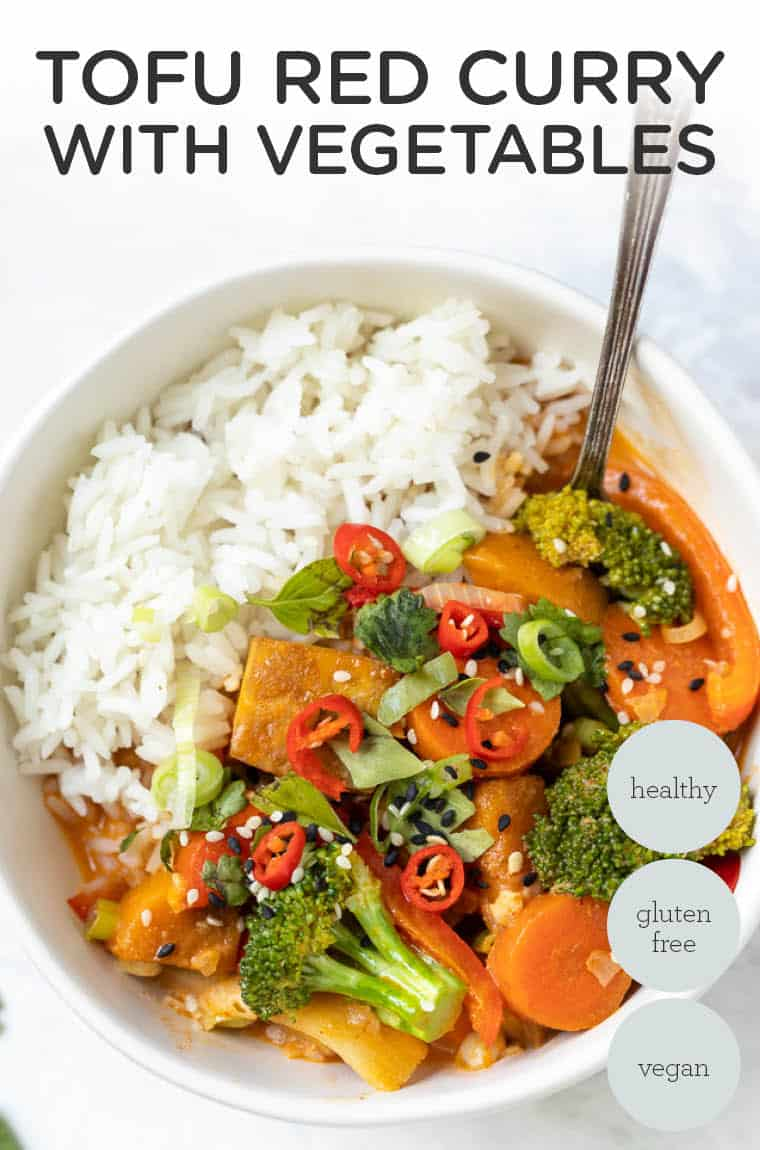 Tofu Red Curry with Vegetables