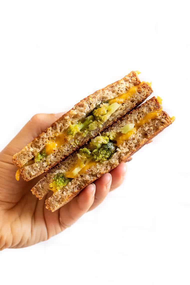 Broccoli + Cheddar Vegan Grilled Cheese