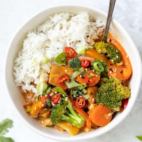 Vegan Tofu Red Curry
