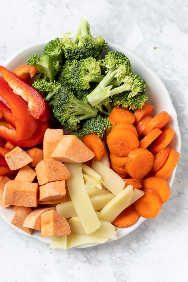 Vegetables to use in Red Curry
