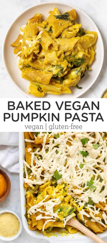 Baked Vegan Pumpkin Pasta