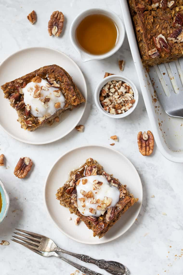 Baked Oatmeal Recipe with Pumpkin