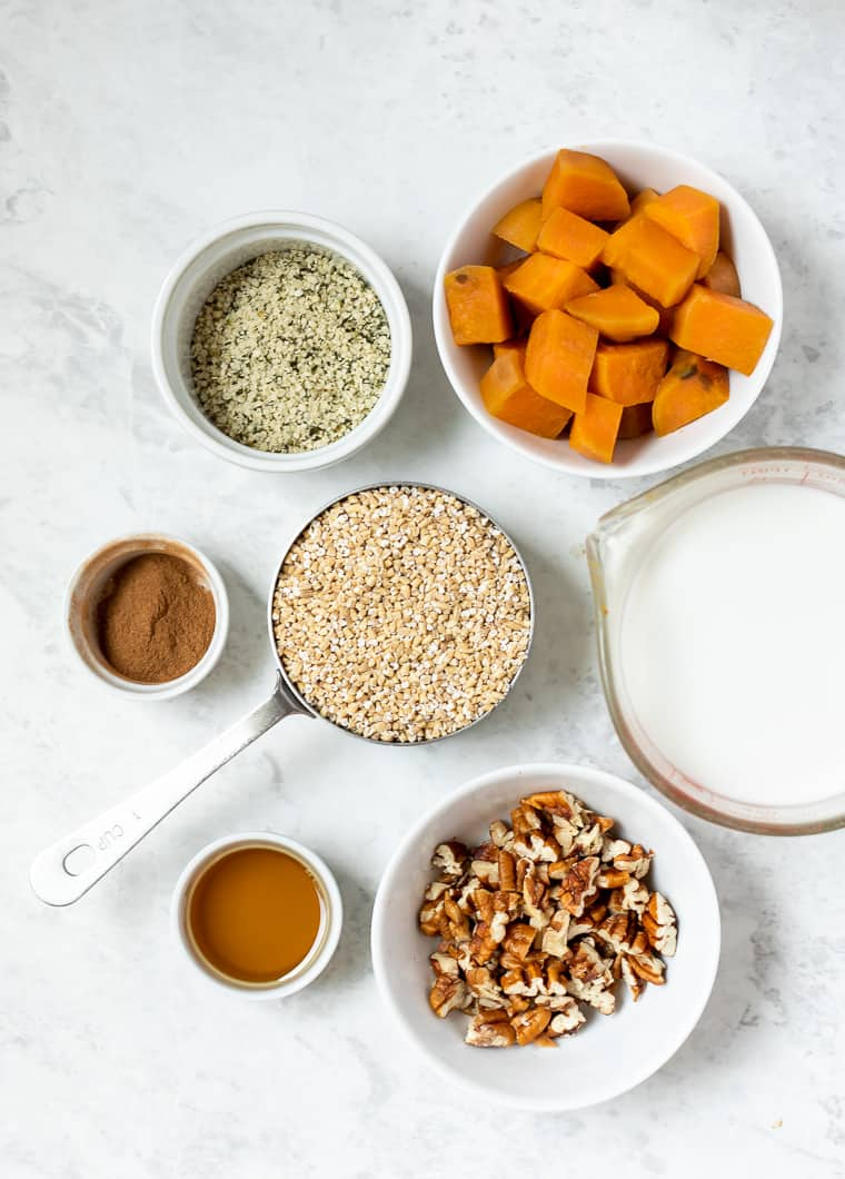 Ingredients for Sweet Potato Oatmeal