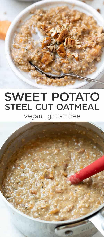 Sweet Potato Steel Cut Oatmeal
