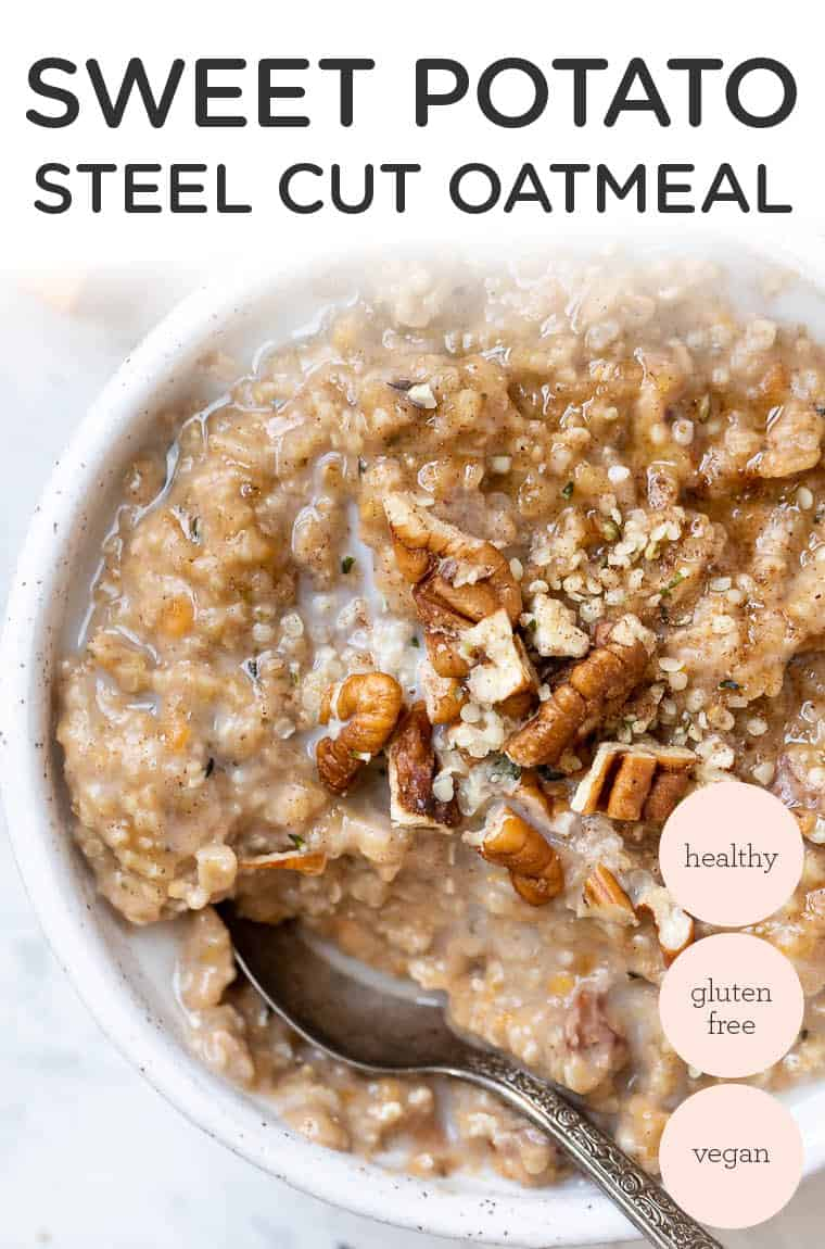 Creamy Sweet Potato Oatmeal Bowl