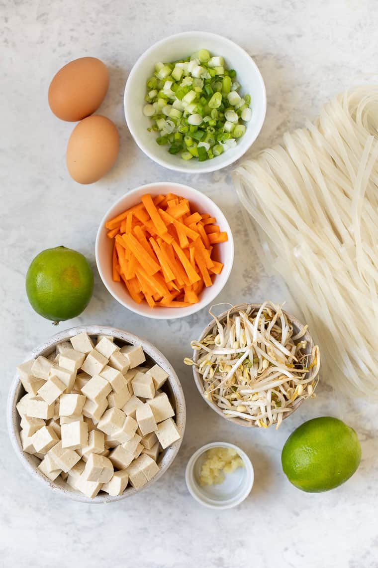 Ingredients for Homemade Pad Thai