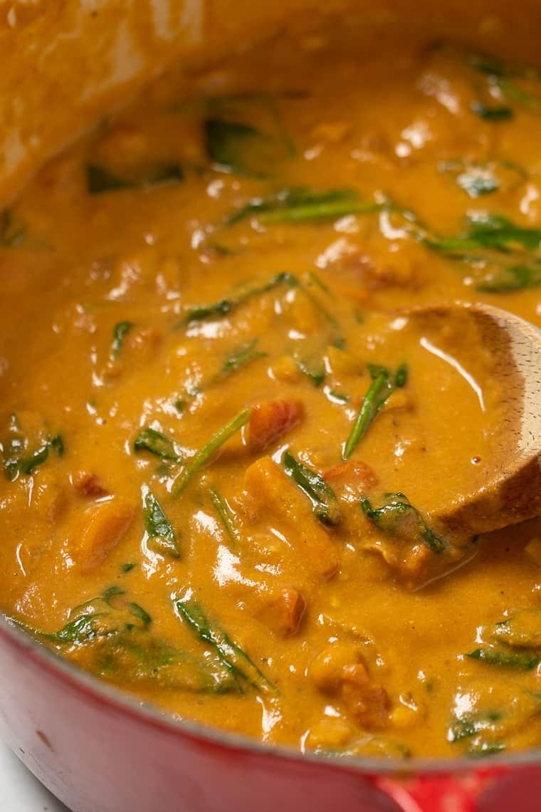 Creamy Pumpkin Stew with Chickpeas