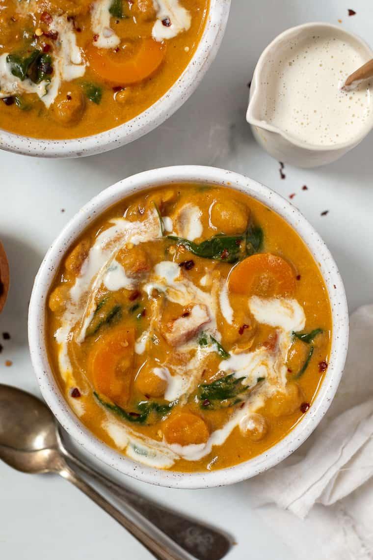 Creamy Chickpea Pumpkin Stew