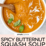 Spicy Vegan Butternut Squash Soup