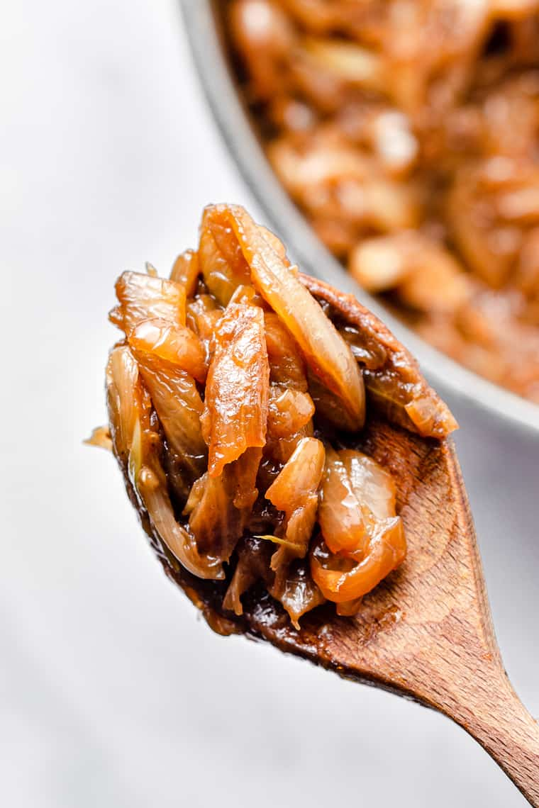 Caramelized Onions in Spoon