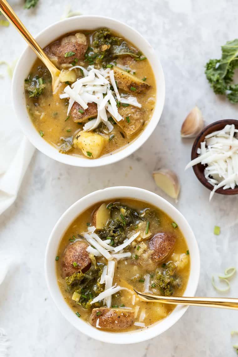 Chunk Vegan Potato Soup Recipe