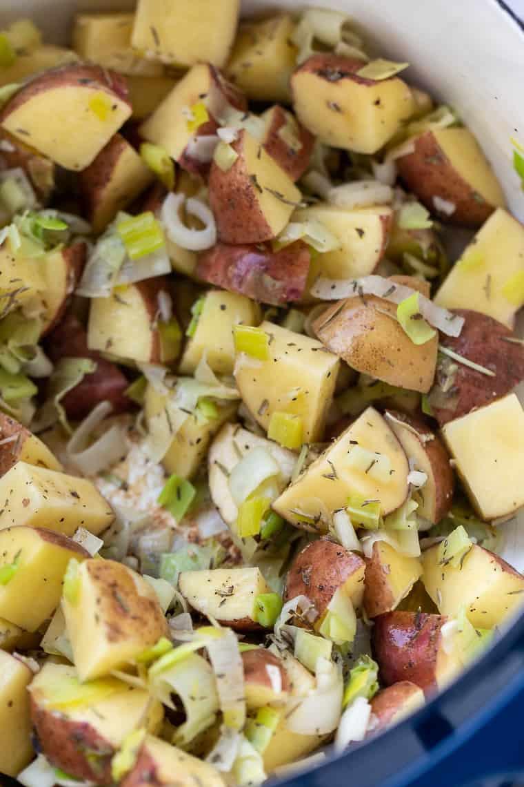 Vegan Potato Soup with Kale