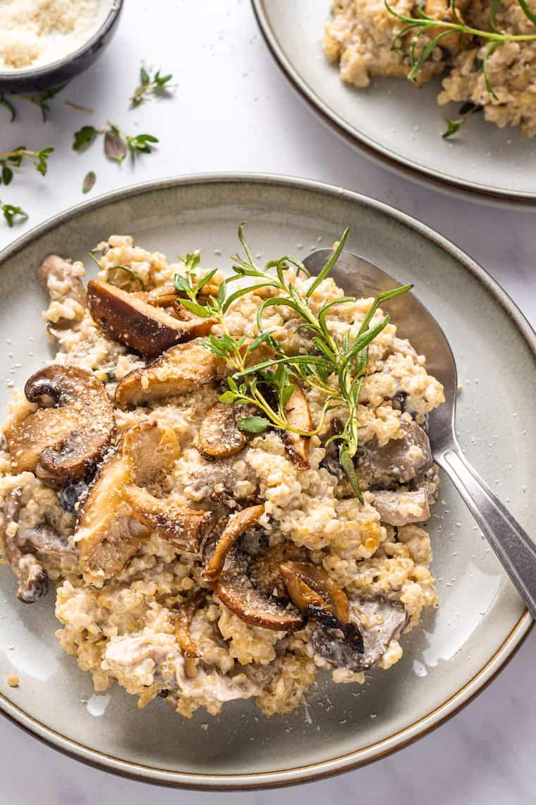 Creamy Mushroom Quinoa Recipe