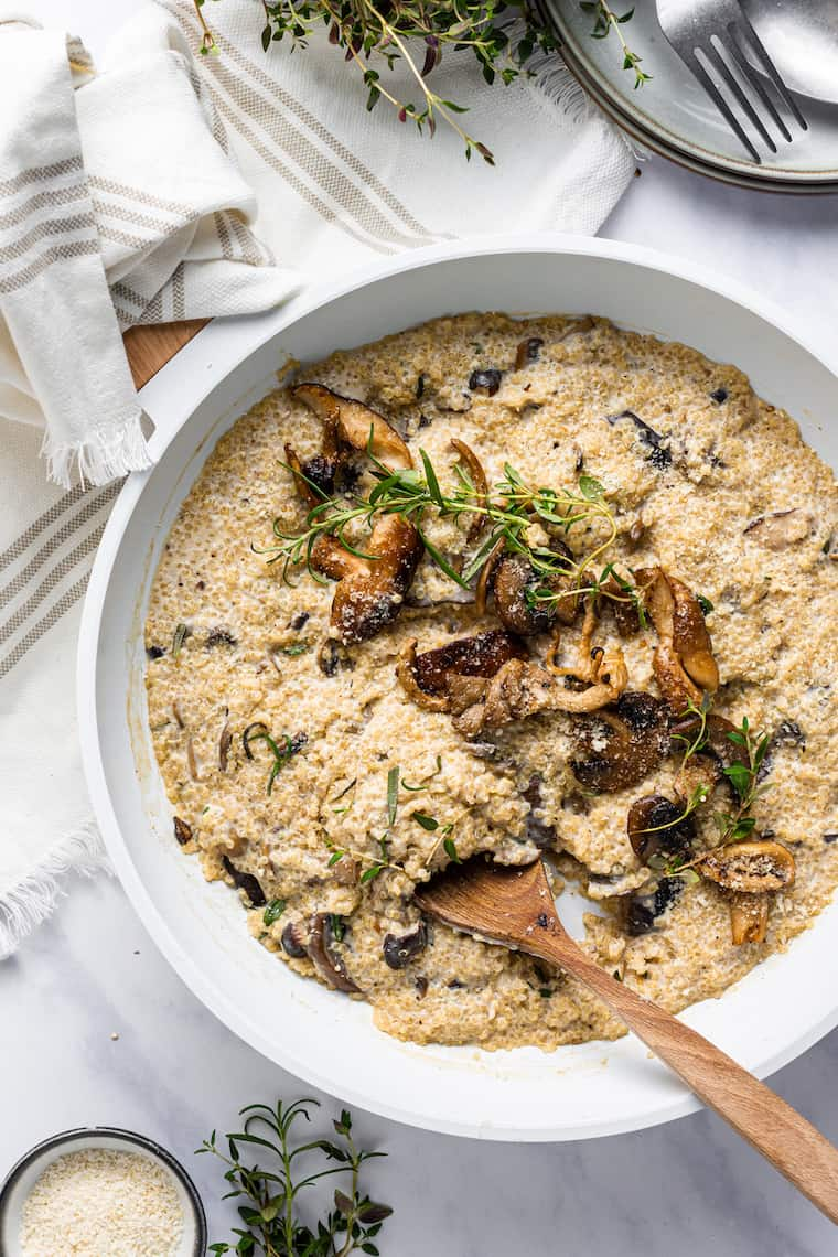Cooking Mushroom Quinoa Recipe