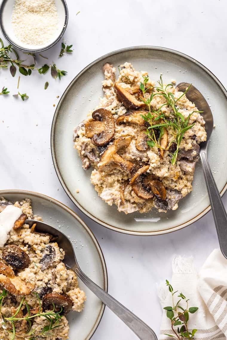 Plate of Mushroom Quinoa