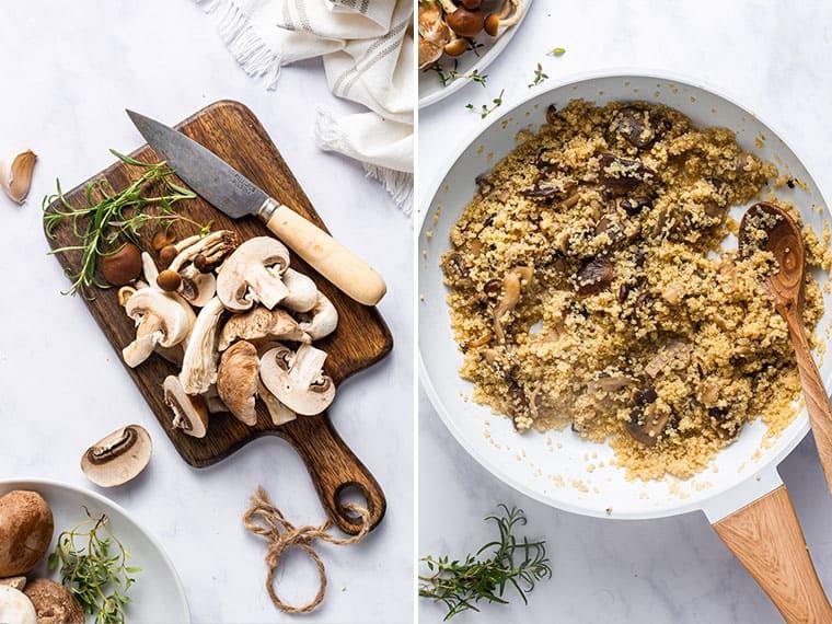 How to Make Mushroom Quinoa